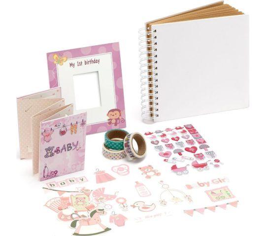 Zestaw Instax scrapbook dla dziewczynki na 1 roczek