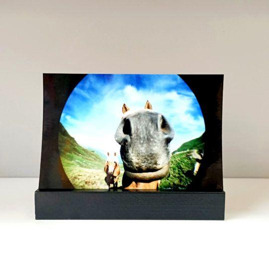 Podstawka drewniana na zdjęcie 10×15 czarna