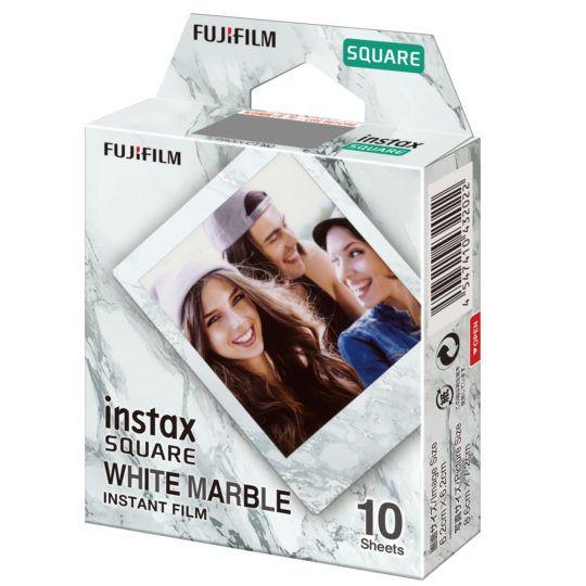 Instax square white marble instant film 10 wkładów
