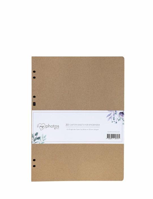 Karty wkład do albumu do wklejania 24x32 cm brązowe