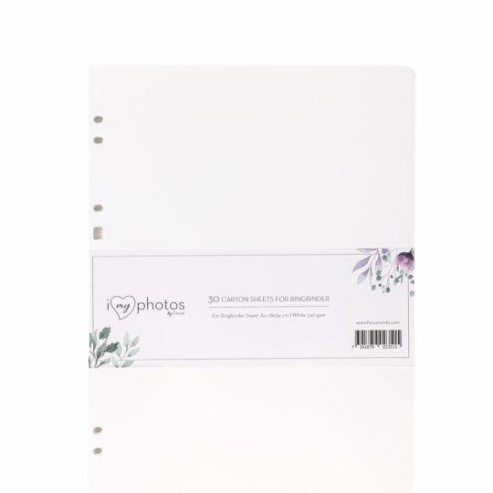 Karty wkład do albumu do wklejania 24x32 cm białe