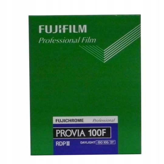 "Film FujiFilm PROVIA 100F 4x5""/20 ISO 100"