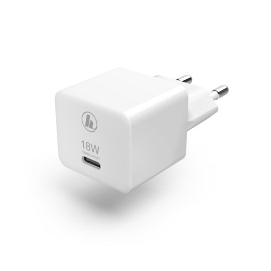 Ładowarka Sieciowa Hama Mini, USB-C, PD/QC, 18 W, Biała