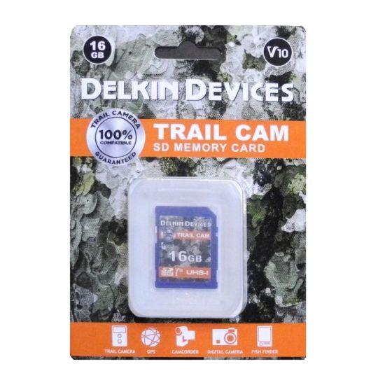 Delkin Trail Cam SDHC (V10) R100/W30 16GB