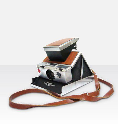 Pasek na szyję Polaroid SX-70 brązowy