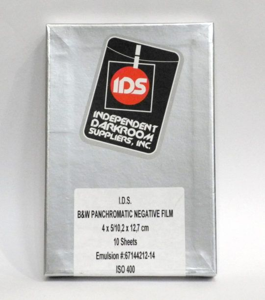 Film negatyw czarno-biały I.D.S. ISO 400 4x5''/10