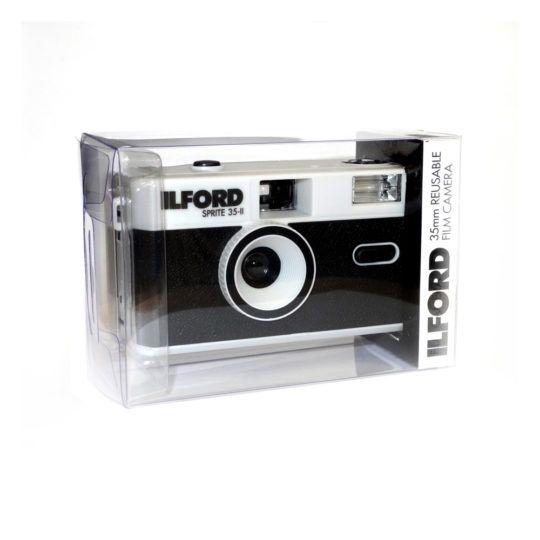 Aparat analogowy Ilford Sprite 35 mm srebrny