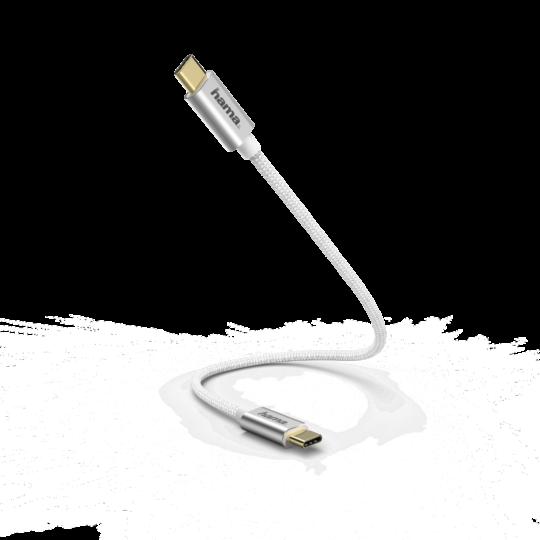 KABEL ŁADUJĄCY/DATA USB-C 0,20 M BIAŁY