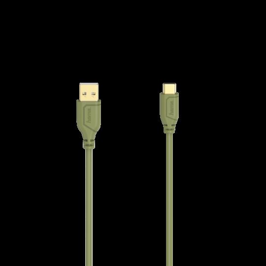 KABEL USB-C 2.0 A FLEXI-SLIM 0,75 M ZIELONY